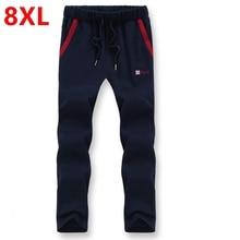 Otoño nuevos pantalones 7xl 8xl gran patio pantalones gordos pantalones masculinos 6xl gran tamaño pantalones yardas Grandes de los hombres pantalones