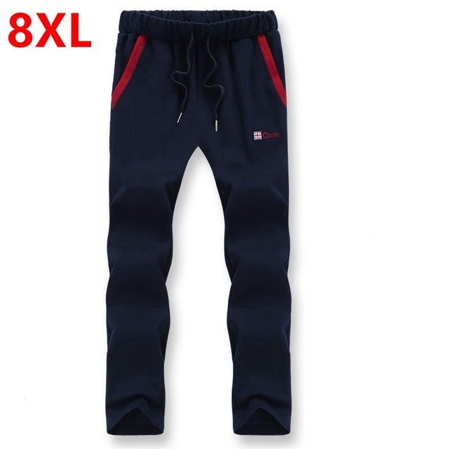 Autumn new 8xl  pants 7xl big yard male  pants  Fat people pants 6xl big size pants Big yards men's trousers