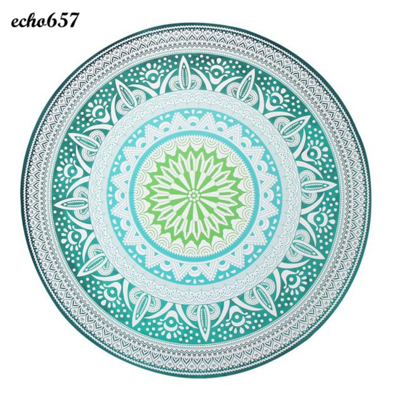 Beach Towel in Bath Towel Echo657 New Round Beach Pool Home Shower Towel Blanket Table Cloth Beach Towel for Adult Jan 13
