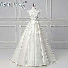 Manik-manik Elegan Wedding Dresses Dua Potongan Satin Vestido de Novia 2018 Jubah de Mariee Vintage vestido de casamento Pernikahan Sederhana