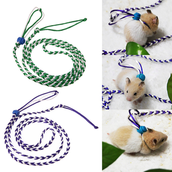 1.4m Nylon Pet Hamster Gerbil Pet Cage Leash Adjustable Pet Rat Mouse Harness Rope Ferret Finder Leash Hammer Accessories