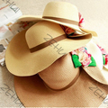 Verano de Las Mujeres de Bohemia Flor de Paja de Ala Grande Casquillo de Sun Protección UV Sombrero de la Playa Envío de La Gota y Envío