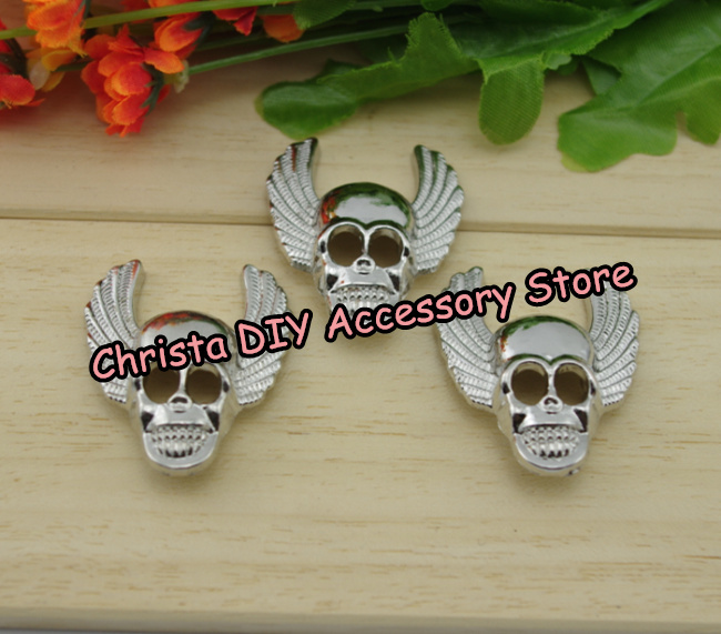 100sets lot 35 45cm Punk Skull Bag Studs Fashion Spikes Alloy DIY Rivet Cloth Shoes Accessory