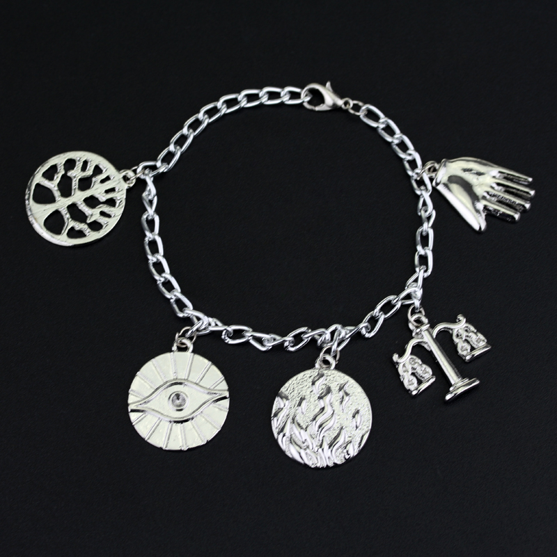 DIY Handmade Movie Bangle Bracelet Jewelry Scales of Justice Libra Sign Burnished Law Lawyers Pendant a bracelets for Woman image