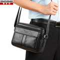 2015 Hot genuine cowhide leather men bag fashion business messenger bag for men casual  travel male shoulder chest bag