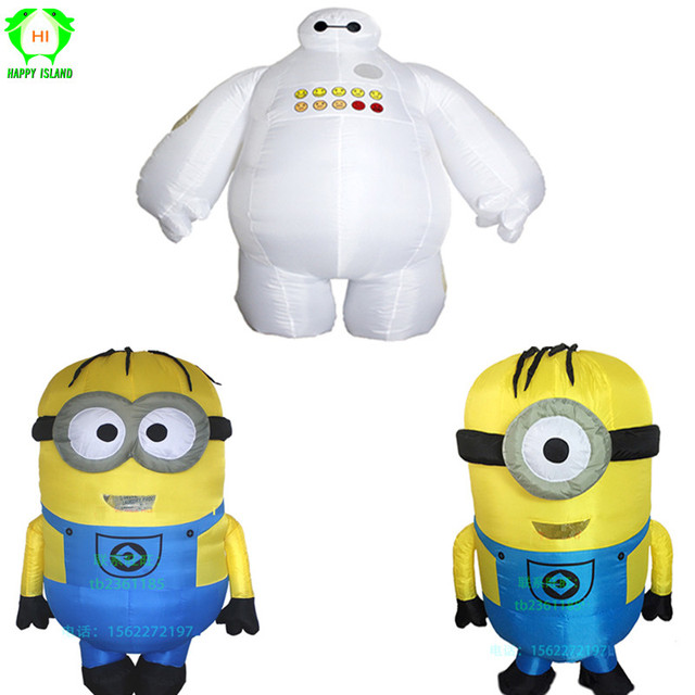 Baymax Minion Mascot Costume Christmas Carnival Cosplay Animal Costumes Inflatable Costume Children's Day Halloween for Kids