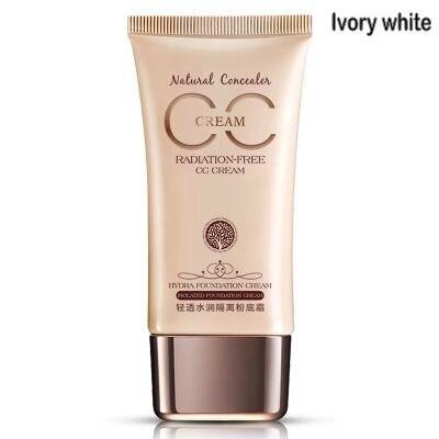 CC крем-консилер увлажняющий отбеливающий Жидкий тональный крем основа для лица Косметика для макияжа - Цвет: Ivory white