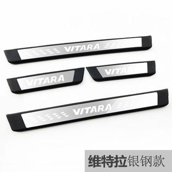 Hoogwaardig roestvrij staal Plaat Instaplijsten Welkom Pedaal Auto Styling Accessoires 4 stks/set voor Suzuki vitara 2015-2018