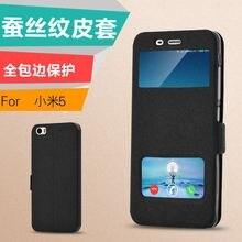 Xiaomi mi5 case, высокое качество посмотреть окно pu leather case для fundas xiaomi mi5 pro prime откидная крышка телефон сумка