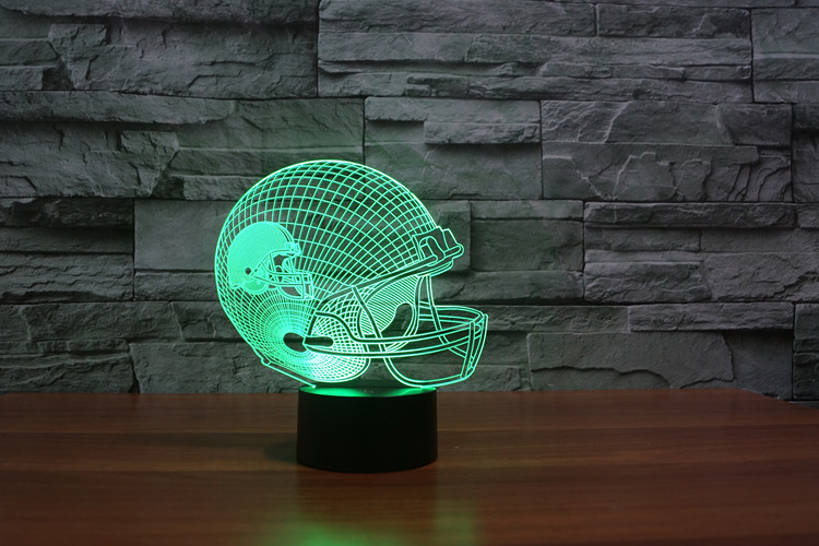 Cleveland Brown American football teamlogo on helmetSLong 3D led Light5