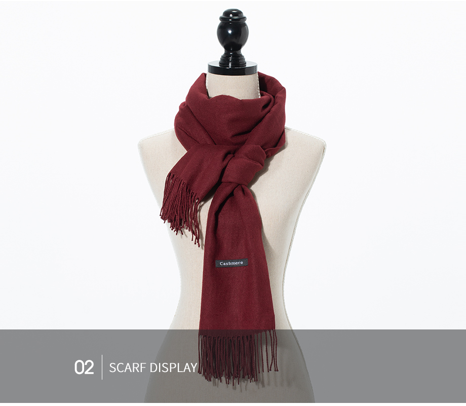 Winter Large Tassel Scarf 180cm65cm 23 Colors Wool Knitted Scarves 2019 Autumn 100% Cashmere Long Solid Scarf Women Warm Shawl (28)