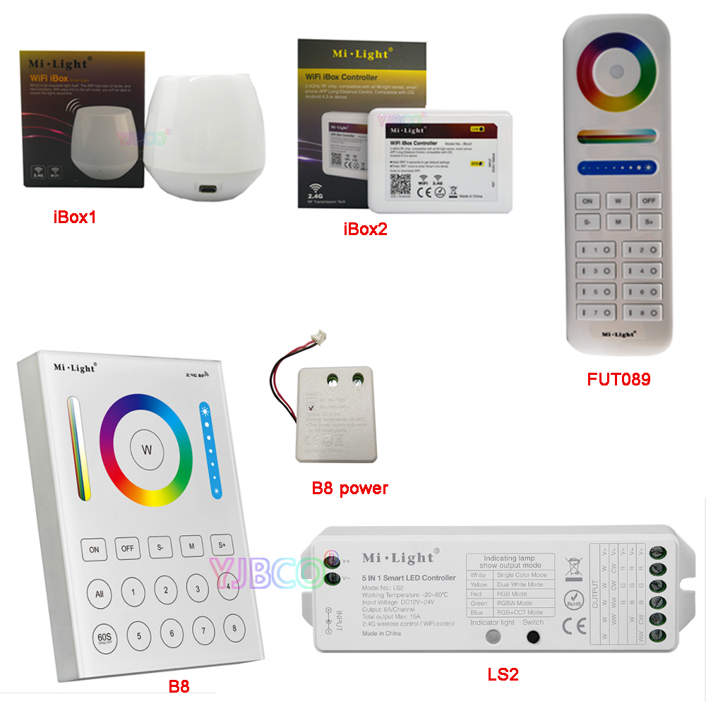 Milight 2,4g Rgb Cct Drahtlose 8 Zone Remote Wandmontage Touch Panel Ls2 5in 1 Smart Led Streifen Controller Fut089//b8/ibox1/ibox2 Dimmer Licht & Beleuchtung