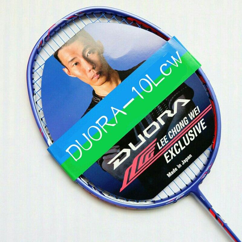 Badminton Racket Racquet Sports Carbon Badminton Racquet + String 26-28 LBS new arrival arc10 5u 77g super light badminton racket 100% carbon black white badminton racquet traning racket