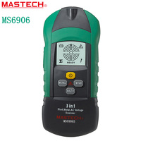 MASTECH MS6906S 3 In 1 Multifunction Metal Detector Wood Stud Thiness Tester AC Voltage Scanner Industrial