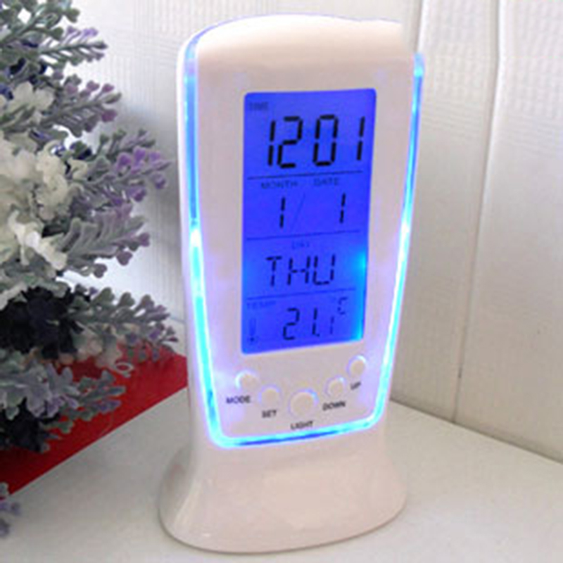 2017Hot LED Electronic Alarm Clock Candy Grabber Backlight LCD Desktop Table Watch With Time Projection Despertador Digital Bell