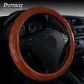 Microfiber Leather Steering Wheel Cover Personalized Crocodile-embossed Black Gray Brown Beige Luxury Car Accessories