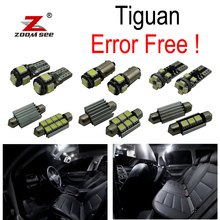 13pc X canbus Error Free for VW Volkswagen Tiguan LED interior dome map reading trunk light bulb Kit Package (2009-2015)