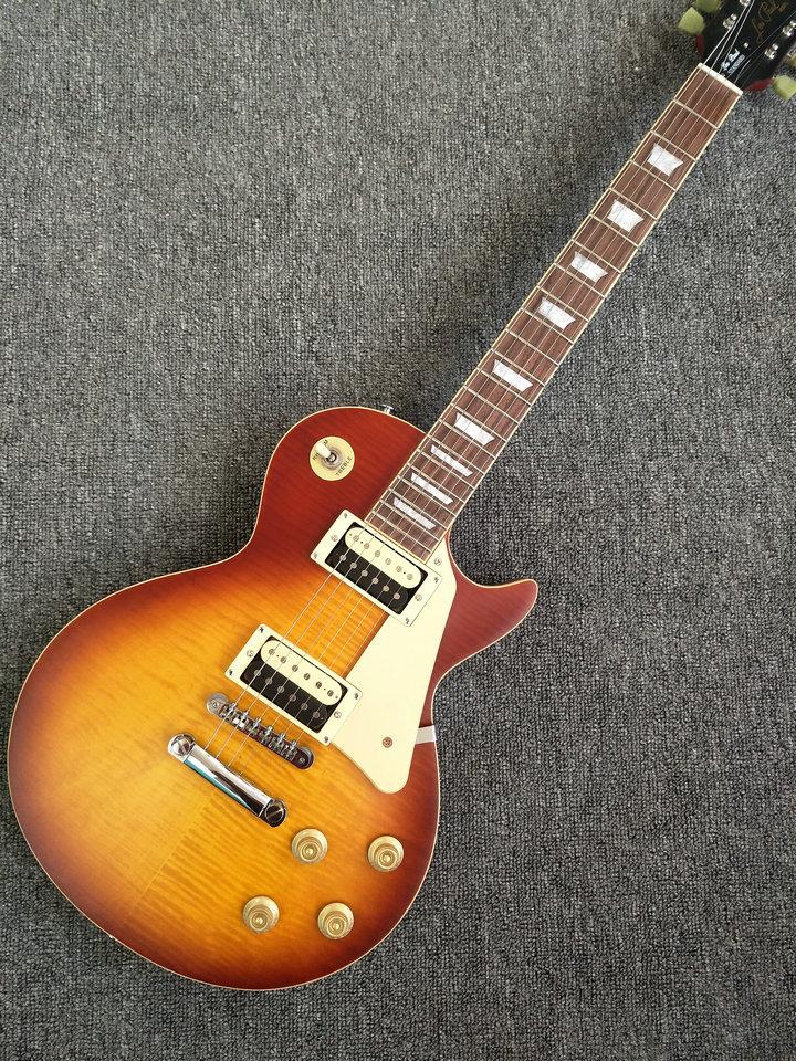 Classic 59 LP Solid mahogany Electric Guitar cherry sunburst matte color Guitarra free shipping custom shop lp standard electric guitar matte tobacco sunburst color lp guitar 59 version striped maple veneer abr 1 bridge