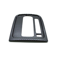 YAQUICKA Carbon Fiber Or Wood Grain Style Car Interior Gear Shift Panel Frame Trim Cover Sticker