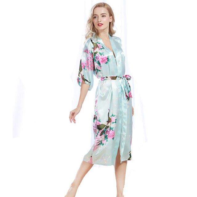 cf15c251b Quimono de seda Manto de Noiva Se Preparando Para O Casamento Mulheres  Kimono Robe De Seda