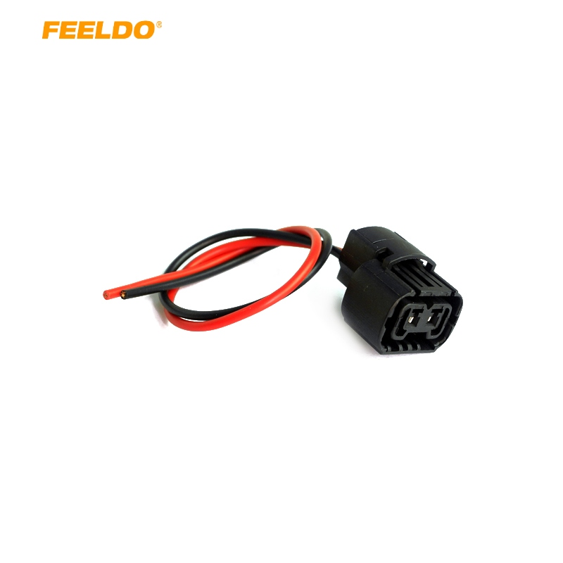 FEELDO 2pcs Car 5202 H16 2504 PS24W 5201 Bulbs Female Connector For Fog Lights Wiring Pigtail Harness #HQ965(China)