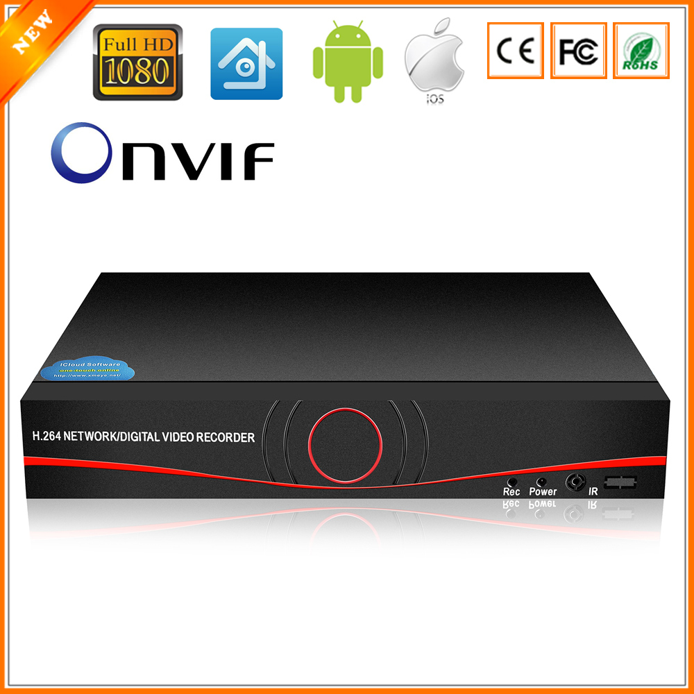 BESDER Full HD 1080P CCTV NVR 4CH 8CH NVR For IP Camera ONVIF H 264 HDMI