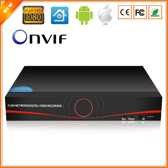 BESDER Full HD 1080P CCTV NVR 4CH 8CH NVR For IP Camera ONVIF H.264 HDMI Network Video Recorder 4 Channel 8 Channel NVR