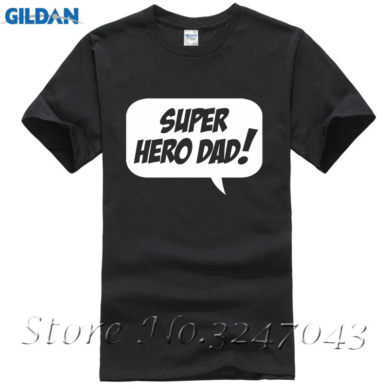 Fashion Men T Shirts Round Neck Super Hero Dad - Fathers Day Mens T-Shirt Loose Clothes