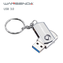 Hot Sell Wansenda Metal USB Flash Drive 3.0 Key Chain Pen 256GB 128GB 64GB 32GB 16GB 8GB 4GB Stick Pendrives