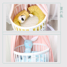 Newborn BabyAround Cushion cartoon Foldable Prevent bruises Crib Baby Bed cotton Safety Protection Portable BMT022