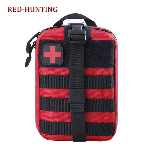 Red EDC Molle Tactical Pouch Bag Emergency First Aid Kit Bag Travel Camping  Hiking Climbing Medical Kits Bags 0580dc3435
