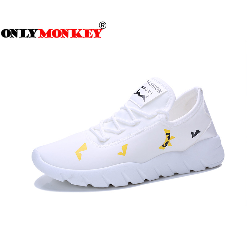 ONLYMONKEY Height Increasing Breathable Flat Shoes Men Absorbent & Massage Insole Men Platform Shoes Durable Casual Shoes Men