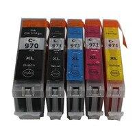 PGI970 CLI971 PGI-970BK CLI-971 compatível com impressora de tinta do cartucho de tinta completo para canon PIXMA MG5790 MG5795