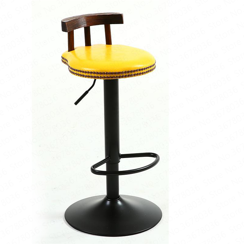 New Bar Stool Modern Minimalist Home Wrought Iron High Stool Bar Stool Chair Bar American Lift Stool