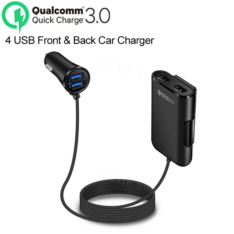 4 Ports QC 3.0 USB Fast Car Charger stickers Accessories for Lexus IS350 IS250 IS200 IS300 RX350 <font><b>RX250</b></font> RX330 GS300 GS350 image