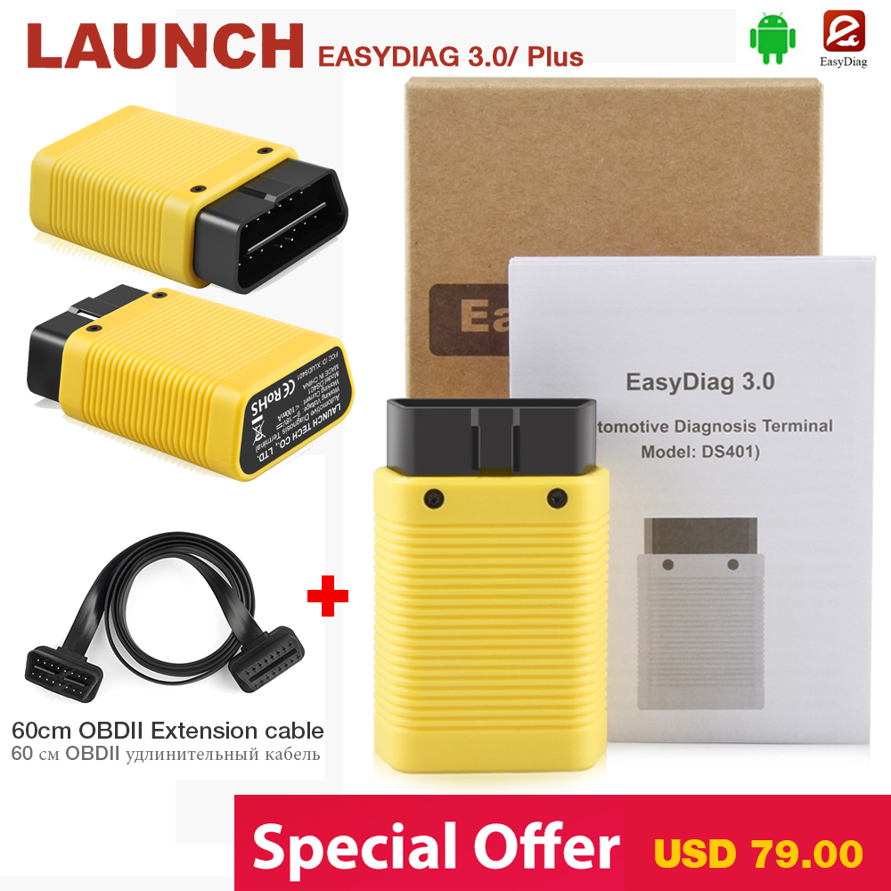 LAUNCH X431 EasyDiag 3.0 OBD2 Diagnostic Tool Easydiag 3.0 plus for Android system OBDII Bluetooth New Mdiag Easydiag 2.0 PLUS launch easydiag 2 0 plus automotive obd2 diagnostic tool obdii bluetooth adapter scanner for ios android