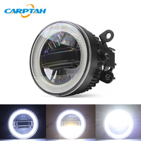 CARPTAH LED Car Light Daytime Running Lights DRL 3 in 1 Functions Auto Fog Lamp Projector Bulb For Mitsubishi Pajero Sport 2018