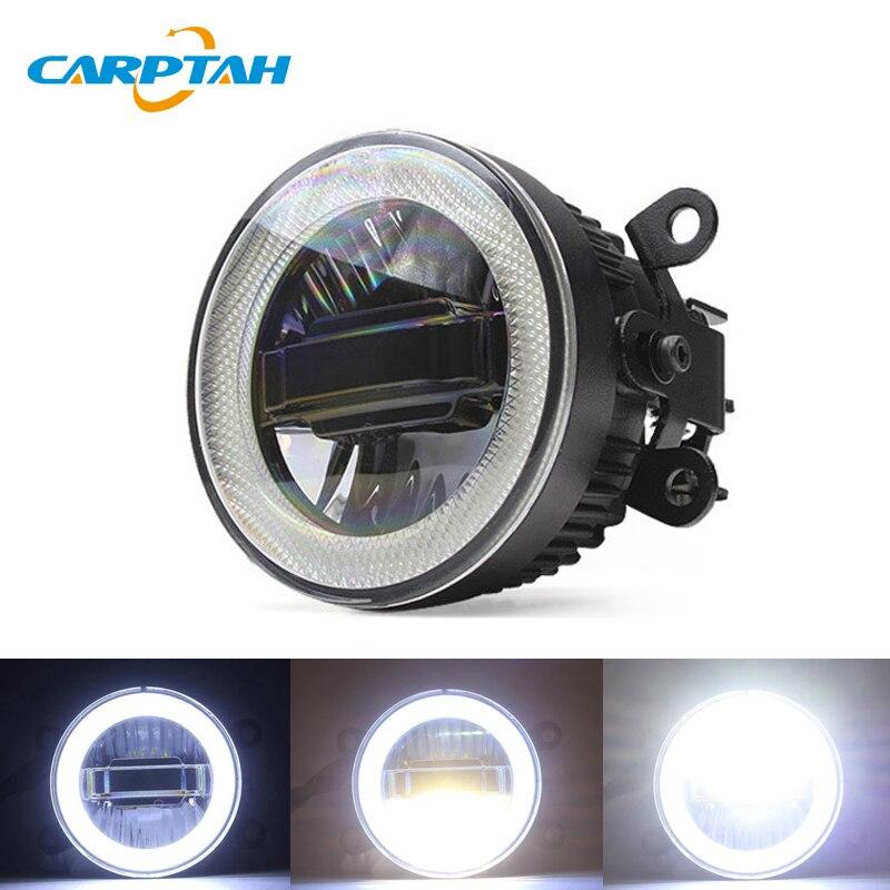 CARPTAH LED Car Light Feux de jour DRL 3-en-1 Fonctions Auto Brouillard Lampe Projecteur Ampoule Pour mitsubishi Pajero Sport 2018