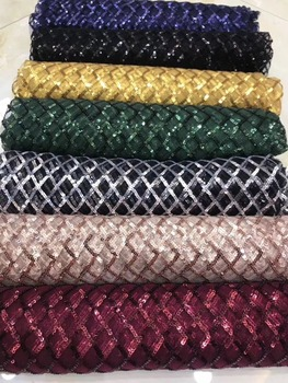 Luxury African Lace Fabric SYJ-163 sequins  Pretty French Guipure tulle Lace Fabric High quality