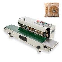 YTK FR900 Plastic Film Food Sealing Machine+Vertical Sealing+date printing+seal belt 220V