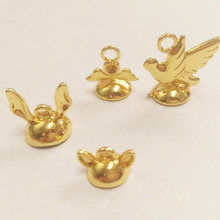 Новая верхняя крышка застежка милая форма животных для diy ювелирных изделий золотого цвета