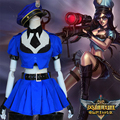 Free PP Game LoL Cosplay Costume Caitlyn The Sheriff of Piltover Halloween Fancy Dress Costumes For Women caitlyn cosplay Anime