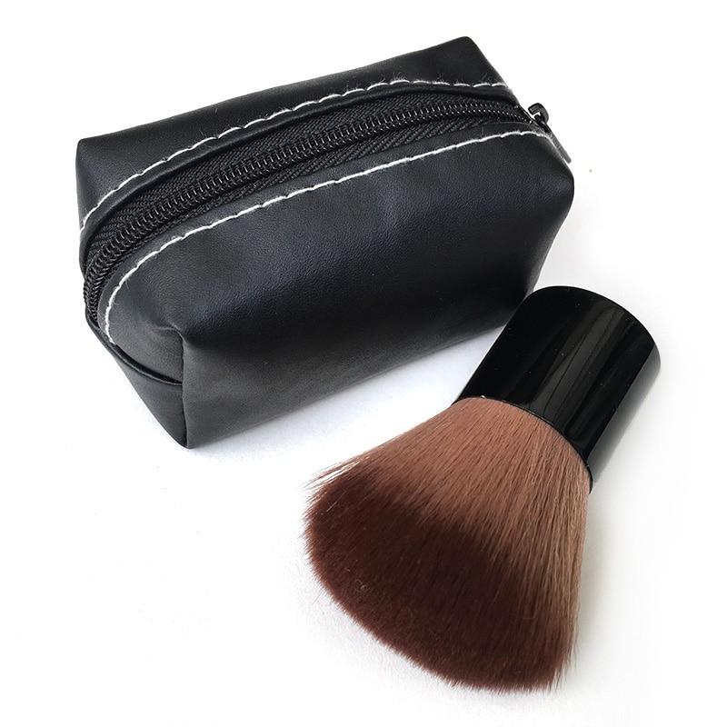 Marca Blush Em Pó Pincel de maquiagem Portátil Escova Grande Cosméticos Pincéis de Maquiagem com saco de PU