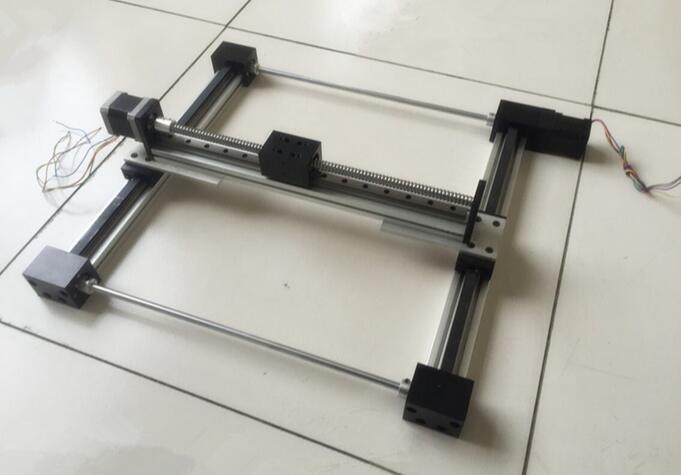 new assembly 3d moudle Synchronous belt/mechanical/gantry / 2 d / 3 d/linear guide slide module / 42 stepper motor toothed belt drive motorized stepper motor precision guide rail manufacturer guideway