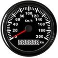 85mm Universal GPS Tacho Gauge 200 km/std 120 km/std Speed Meter Für Auto Lkw Motorrad Auto Boot Mit Rot hintergrundbeleuchtung 9 ~ 32 v|Tachometer|Kraftfahrzeuge und Motorräder -