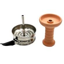 Keramik Tabak Schüssel & Metall Holzkohle Halter Mit Griff Set für Shisha/Shisha/Shisha/Chicha/Narguile Zubehör SH-004