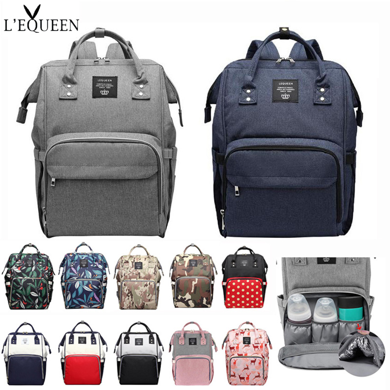 Lequeen Fashion Mummy Maternity Diaper Bag Multifunctional Baby Care Nappy Backpack Outdoor Mummy Bag Stroller Accessories