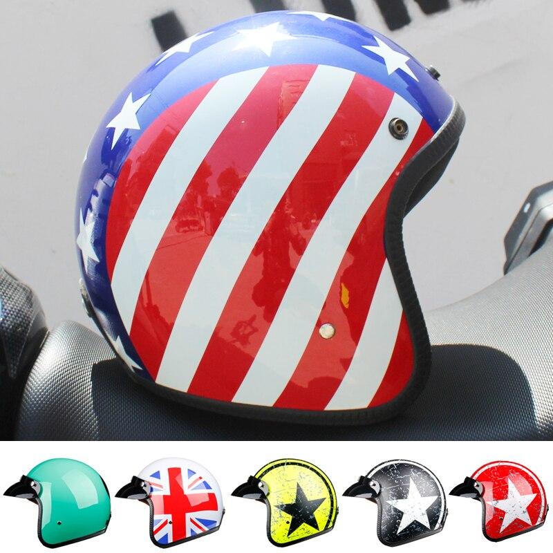 LDMET harley casco moto vintage moto rcycle casco jet capacetes de moto ciclista vespa cascos párr moto cafe racer abierto cara