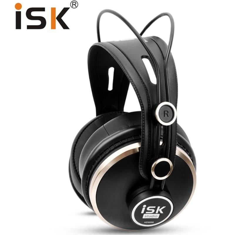 Genuine Original ISK HD9999 Pro HD Monitor Headphones fully closed monitoring earphone DJ/Audio/Mixing/Recording studio headset-in Headphone/Headset from Consumer Electronics    1
