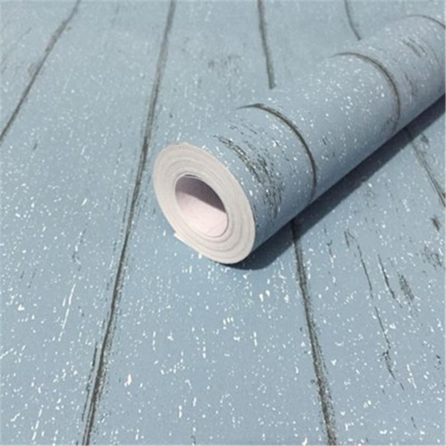 Купить с кэшбэком beibehang Retro wood grain Self - adhesive wallpaper waterproof and moisture - proof PVC environmental wallpaper papel de parede